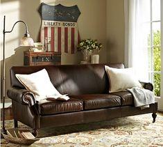 Brooklyn Leather Sofa #potterybarn - http://atlanta.craigslist.org/atl/fuo/5316096354.html ($1200 on Craigslist)