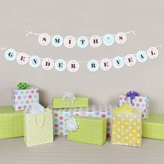 Gender Reveal - Personalized Baby Shower Garland