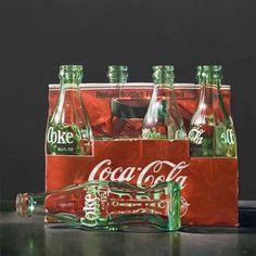 Painting by James Neil Hollingsworth. #coca-cola #coke #bottle