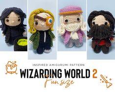 Harry Potter Crochet, Harry Potter Dolls, Cute Crochet, Crochet Hats, Fun Size, Knitted Dolls, Crochet Patterns, Knitting, Handmade Gifts