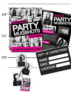 Want a party game for the bachelorette party that doubles as a way to collect a ton of fun memories? Our Bachelorette Party Mugshots game is ideal for the wild crew that loves to take selfies and perform dares! Bachlorette Party, Vegas Bachelorette, Bachelorette Party Decorations, Nautical Bachelorette Party, Bachelorette Shirts, Las Vegas, Party Prizes, Party Dares, Mug Shots