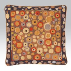 """Klimt Gold - Ehrman Tapestry. By Candace Bahouth 14"""" x 14"""" (35 cm x 35 cm) 10 holes to the inch Ehrman wools"""