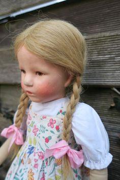 Antike Käthe Kruse Puppe Mädchen, 35cm, 1930er J., kleines deutsches Kind
