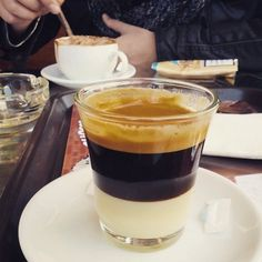 This popular Spanish coffee is for those who like it sweet. Mix equal parts strong coffee with sweetened condensed milk.