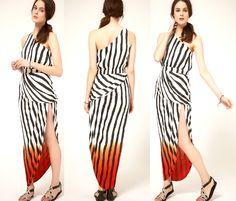 Dip dye print dress