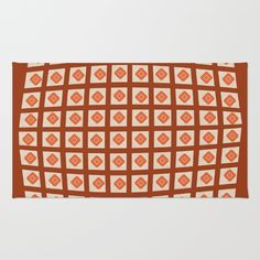 Bright red orange checked rug - Just An Illusion. From 28.00. For bright decor, pick matching accessories - pillows, duvets, blankets. Using 100% woven polyester, these premium quality area rugs boast an exceptionally soft touch and high durability. Available in three versatile sizes (2' x 3', 3' x 5', 4' x 6') they are the perfect accent to any room in your home, featuring thousands of designs from your favorite artists on a subtle chevron pattern. Machine washable; non-skid pad not…