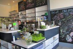 Meet Santa Monica's Main Squeeze. No, literally...a juice bar named Main Squeeze.