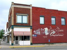 Baxter Springs KS, En Route Cafe Most robbed town in the Cowboy age Robbed by i.a. Jesse James