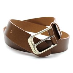 (JPB011-BROWN) Casual Leather Belt from W28 to W35