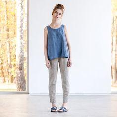 Natural linen pants / Washed women linen par notPERFECTLINEN