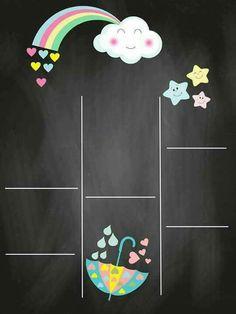Love Cloud Invitation: 25 Templates with Rain of Hearts! Birthday Board, Baby Birthday, Diy Invitations, Invitation Cards, Invitation Templates, Cloud Party, Rainbow Theme, Chalkboard Signs, Cartoon Pics