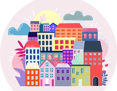 """Check out new work on my @Behance portfolio: """"Town"""" http://be.net/gallery/55749933/Town"""