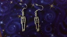 Skeleton Earrings by Th1rte3nsCloset on Etsy, $3.00