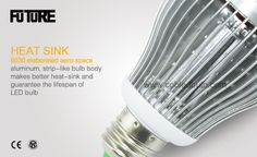 Pure White LED Bulb body.