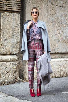 Best Milan Fashion Week Street Style Fall 2015 - Street Style from Milan Fashion Week LOVE this LOOK
