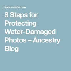 8 Steps for Protecting Water-Damaged Photos – Ancestry Blog Flood Damage, Rainy Season, Water Damage, Family Memories, Photographs, Photos, Ancestry, Encouragement, Blog