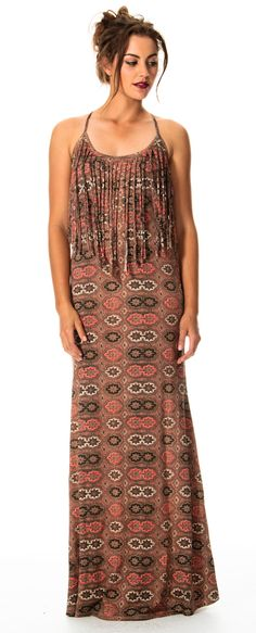 Nice dress, the fringe is probably forgiving!