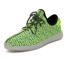 Breath Children Baby Kids Mesh Yeezy Shoes Light Up 7 Colors Boys Trainers  Led Lace