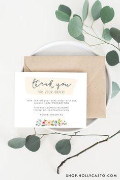 Printable Thank You Cards | Sophia