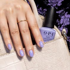 For a bold yet romantic statement, enter: #YoureSuchABudapest. Created in 2013, this periwinkle purple got its name from OPI co-founder @1stladyofcolor's Hungarian roots. Purple Nail Polish, Opi Nail Polish, Opi Nails, Interview Nails, Opi Red, Chocolate Moose, Long Lasting Nail Polish, Party Nails, Gel Color