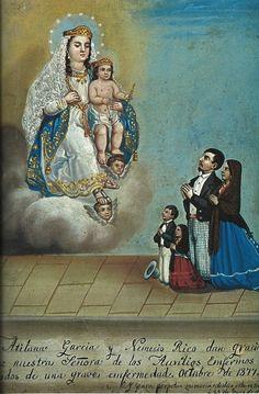 1877, painting on tin by Hermenegildo Bustos.
