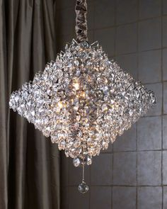 Ronen Chandelier from Horchow. Shop more products from Horchow on Wanelo. Home Lighting, Lighting Design, Unique Lighting, South Shore Decorating, Chandelier Lighting, Entry Chandelier, Decoration, Krystal, Light Up