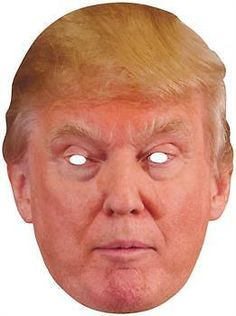 Men's Donald Trump Mask - One-Size for Halloween