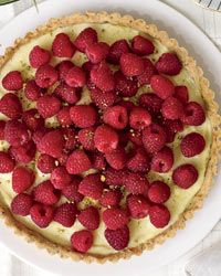 Raspberry Tart with a Pistachio Crust // More Fruit Desserts: http://fandw.me/X3d #foodandwine