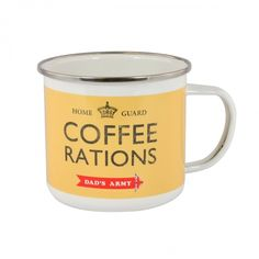 Dads army tin mug coffee rations