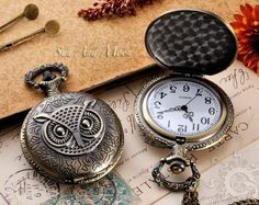 Pocket watch & owl!!! my 2 loves!