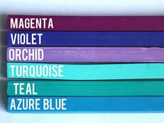 Mermaid Hair Chalks - 6 Pack - Temporary Color Pastels, Magenta, Violet, Teal, Turquoise, Blue and Orchid