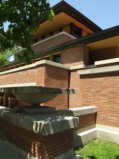 Frank Lloyd Wright's Frederick C. Robie House -  Chicago, Illinois