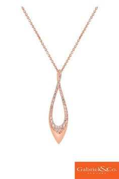 Loving this 14k Pink Gold Diamond Fashion Necklace by Gabriel and Co. This gorgeous necklace is the perfect accessory for a rose gold wedding. This unique piece has such a stunning and dramatic presence and will definitely take anyone's breath away.