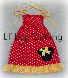 Custom Boutique Clothing Yellow and Red Dots by LilBugsClothing, $34.50