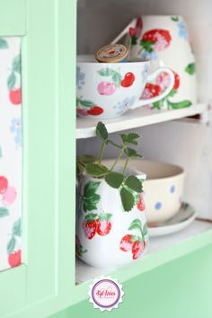 Syl loves, Cath Kidston, Strawberries, cherries, minty, mint, red