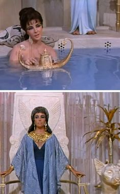 Liz Taylor in Cleopatra. #movie #classic #egyptian