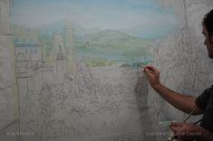 пейзаж в росписи стен