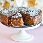 Chocolate Vanilla Tart - grain, dairy and refined sugar-free