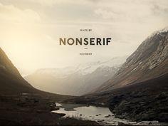 Nonserif Logo Design by Henning Gjerde via Dribbble Web Design, Best Logo Design, Life Design, Print Design, Notes Design, Ad Art, Graphic Design Typography, Vintage Typography, Graphic Design Inspiration
