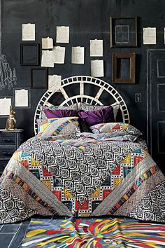 love this chalkboard bedroom wall Bohemian Interior, Home Interior, Interior Design, Bohemian Bedrooms, Bohemian Apartment, Interior Doors, Bathroom Interior, Home Design, Wall Design
