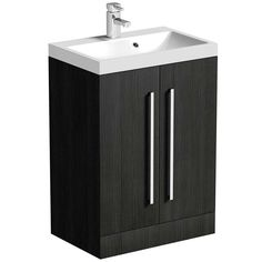 Drift Grey 2 Door Floor Mounted Unit & Basin