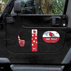 Louisville Cardinals Tailgate Pack Six Piece Magnet Set - $11.99