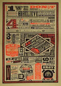 H-57 Commandments – Typographic Poster Design