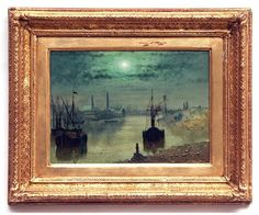 MOONLIT CANAL By Wilfred Jenkins