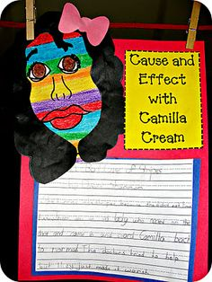 Cause and Effect with Camila Cream; an art and literature lesson to go with the picture book & Bad Case of Stripes& by David Shannon. Visual Art and ELA English Language Arts Lesson. Teaching Language Arts, Classroom Language, Classroom Fun, Teaching Writing, Teaching Ideas, Classroom Activities, Classroom Organization, Classroom Management, Reading Lessons