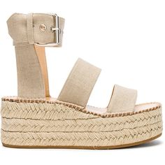 Rag & Bone Canvas Tara Sandals ($450) ❤ liked on Polyvore featuring shoes, sandals, platform shoes, rubber sole shoes, buckle strap sandals, platform espadrilles and canvas shoes