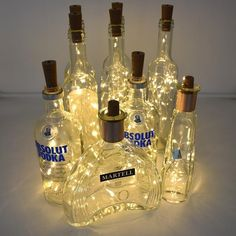 Free shipping on most orders! Shop Raypom for Ceiling Lights, LED Lights, Wall Lights, Outdoor Lights. 1000+ Customer Reviews with Photos MAKE YOU GET WHAT YOU SEE. Hundreds of exclusive designs to help you Distinguish Your Style. Wine Bottle Corks, Lighted Wine Bottles, Wine Bottle Stoppers, Bottle Lights, Beer Bottles, Bottle Art, Copper Lighting, Bar Lighting, Strip Lighting