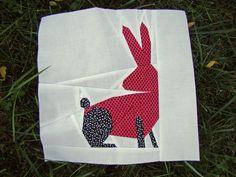 Foundation Paper Pieced Rabbit Pattern