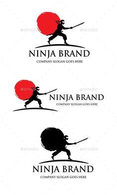 Ninja Brand Logo Logo Branding, Logos, Company Slogans, Logo Inspiration, Logo Templates, Creative Design, Ninja, Objects, Logo Design