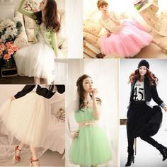 2014Sweet women pretty wPrincess Fairy Style Tulle Dress Bouffant Skirt in US #Others #Bubble
